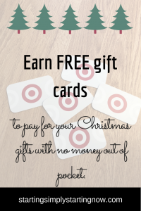 Earn free gift cards to pay for holiday gifts