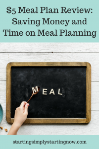 Saving time on meal planning